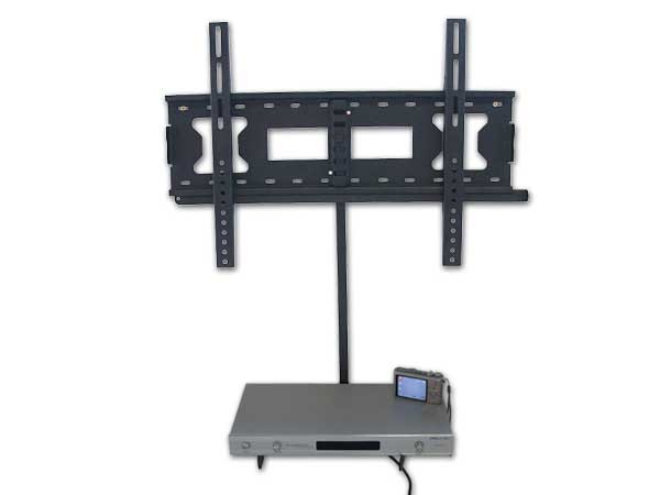 wall mount for led lcd tv bluray dvd player console receiver shelf cable duct ebay. Black Bedroom Furniture Sets. Home Design Ideas